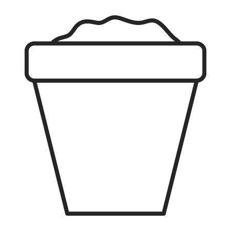 sand bucket toy entertainment vector illustration design Ilustrace