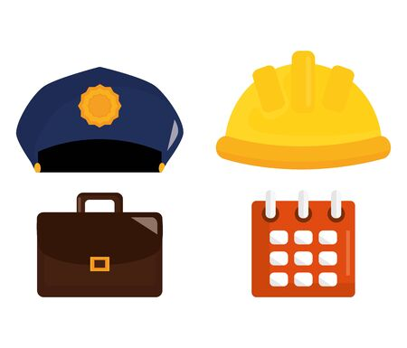 set labour day icons vector illustration design