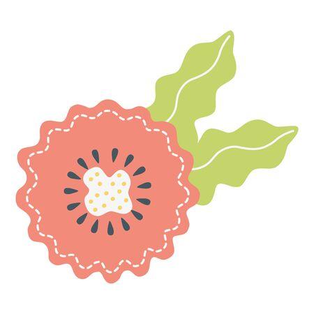 Flower stamp design, floral nature plant ornament garden decoration and botany theme Vector illustration Ilustrace