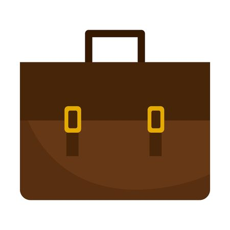 Leather work business briefcase successful busy finance company isolated vector illustration graphic design