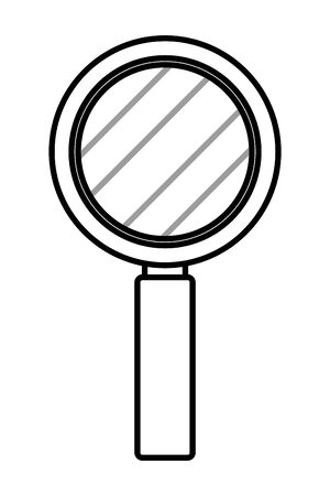 magnifying glass cartoon vector illustration graphic design  イラスト・ベクター素材