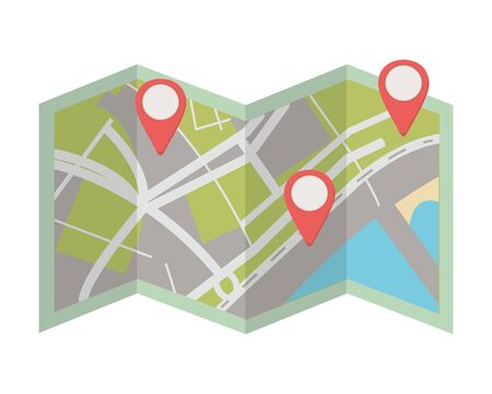 map location cartoon vector illustration graphic design