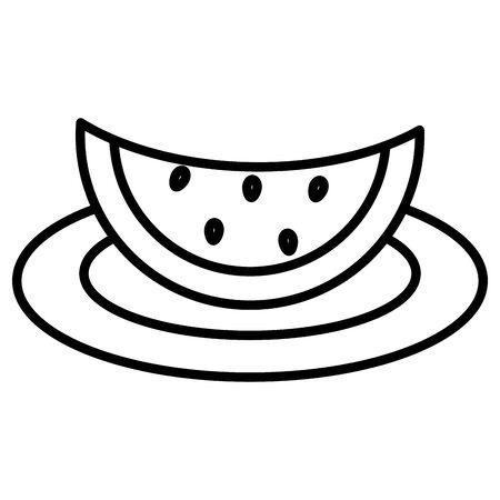 watermelon fresh fruit icon