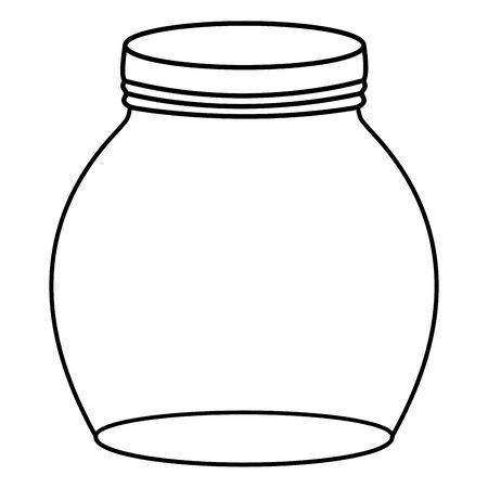jar glass with lid 向量圖像