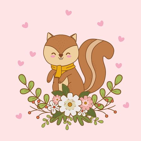 cute chipmunk woodland character Foto de archivo - 126678564