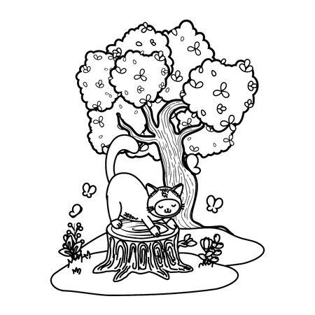 cute pet animal cartoon Çizim