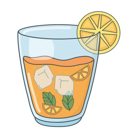 tasty refresh drink cartoon Banco de Imagens - 127131128