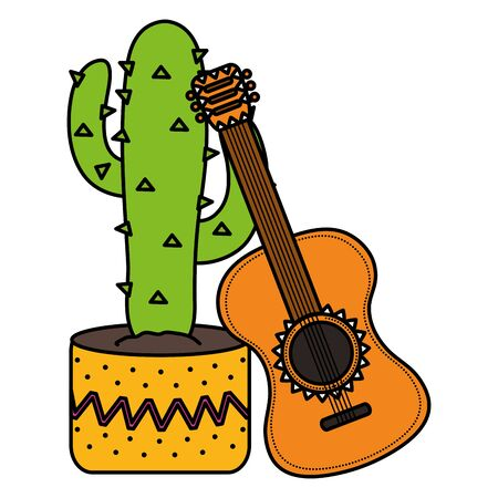 mexican cactus plant with guitar