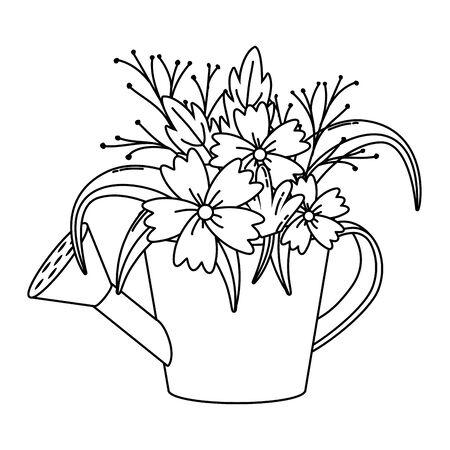 kwiecista natura kwiaty kreskówka