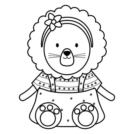 cute female lioness childish character