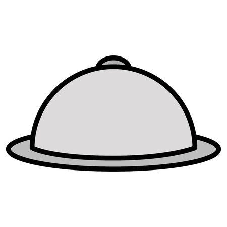 icône isolé du serveur de plateau Vecteurs