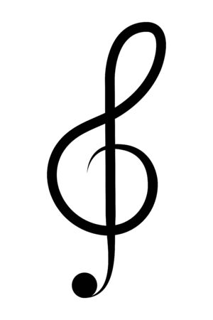 Isolated music note silhouette design Illustration