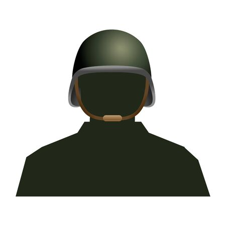 soldier silhouette and helmet