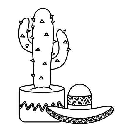 cactus plant with mexican hat