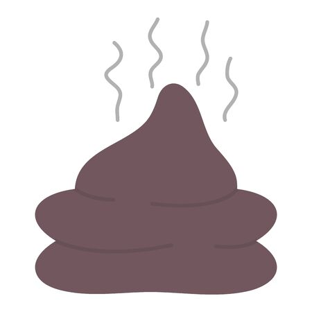 poop organic pet isolated icon