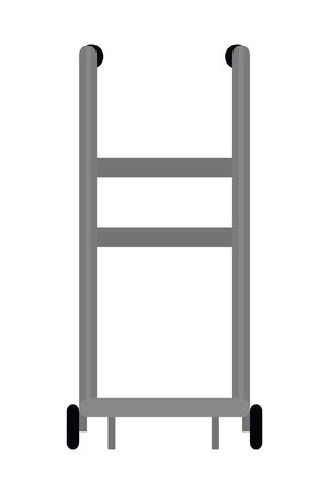 pushcart icon isolated