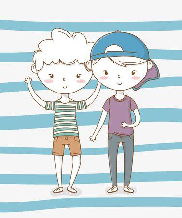 beautiful little boys couple characters