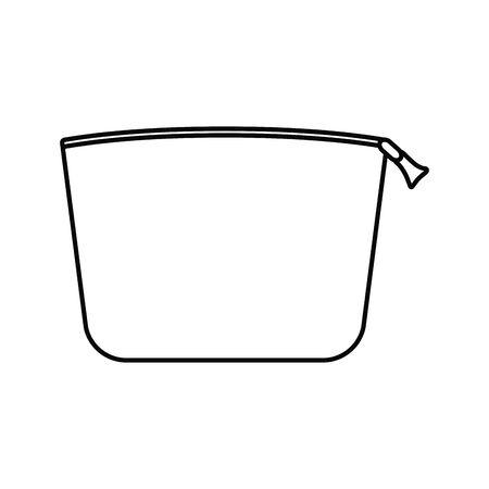 icona isolata borsa per il trucco Vettoriali
