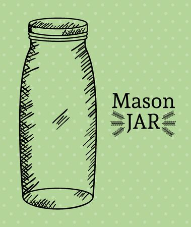 mason jar drawing art