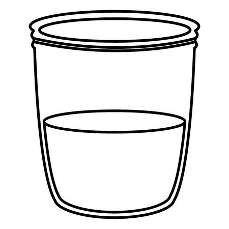 mason jar glass with liquid vector illustration design Иллюстрация