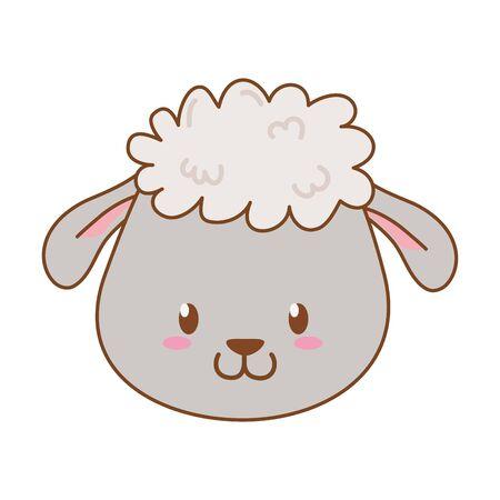 cute sheep woodland character Foto de archivo - 128050763