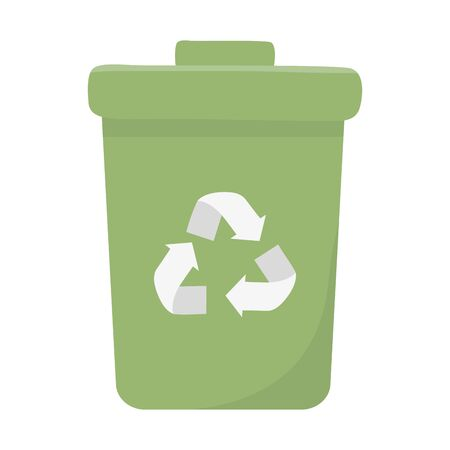 Isolated trash with top design Illustration
