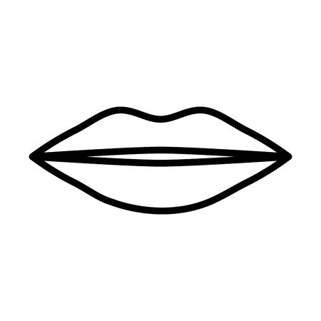female lips pop art style