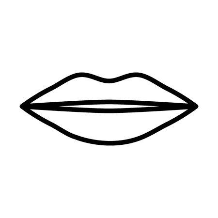 female lips pop art style