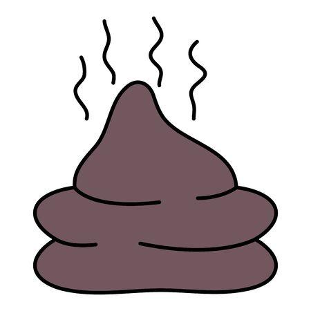 waste organic pet isolated icon Illustration