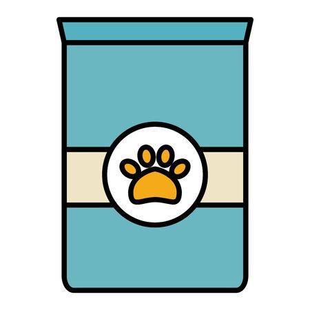 pet food bag icon vector illustration design 向量圖像