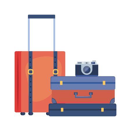 Suitcase and travel design Vektoros illusztráció