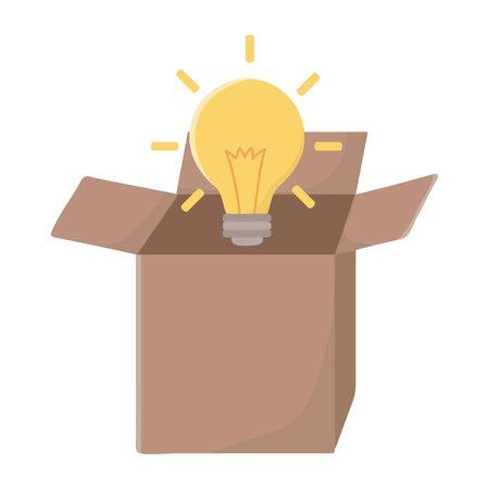 Light bulb design, Energy power technology electricity illumination and innovation theme Vector illustration Vektoros illusztráció