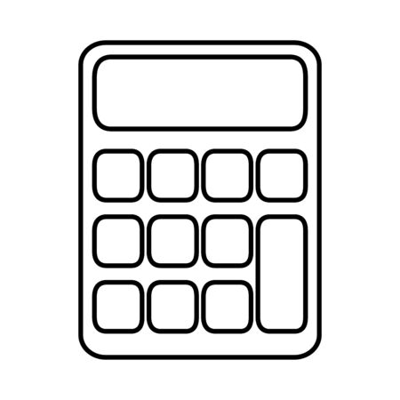 Isolated Calculator design vector illustration Illusztráció