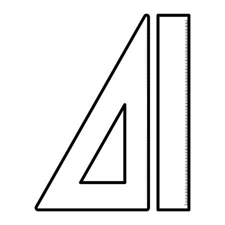 school rule supply isolated icon Ilustração