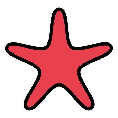 starfish animal shell isolated icon