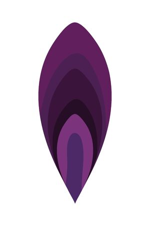 Isolated ornament feather vector design