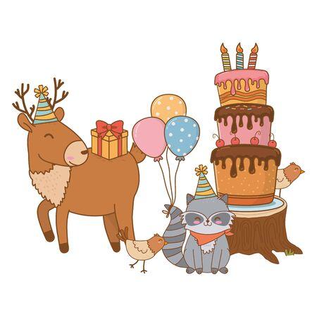 cute little animals cartoon