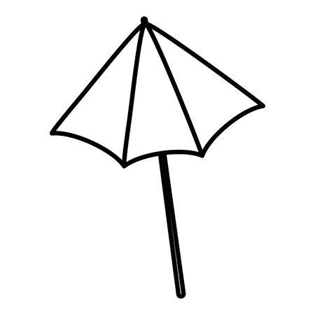 Isolated striped umbrella design vector illustration Çizim