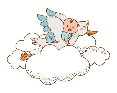 baby shower cartoon card Standard-Bild - 128473237