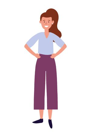 woman avatar cartoon character vector illustration graphic design