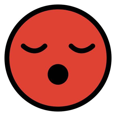 asleep face emoticon character vector illustration design