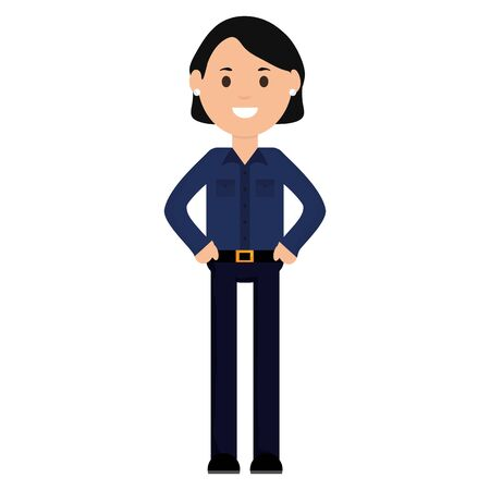young woman avatar character vector illustration design  イラスト・ベクター素材