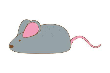 Mouse cartoon design, Animal cute zoo life nature and fauna theme Vector illustration Ilustração