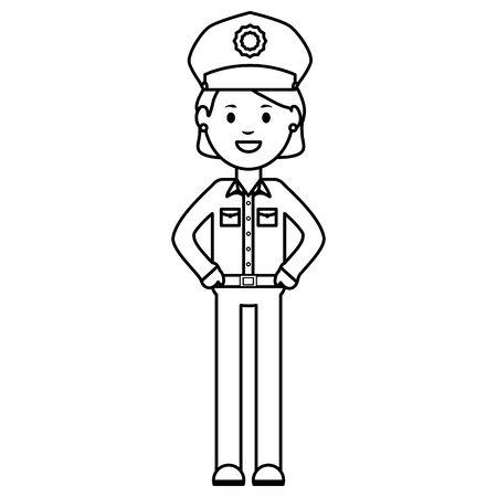 female police officer avatar character