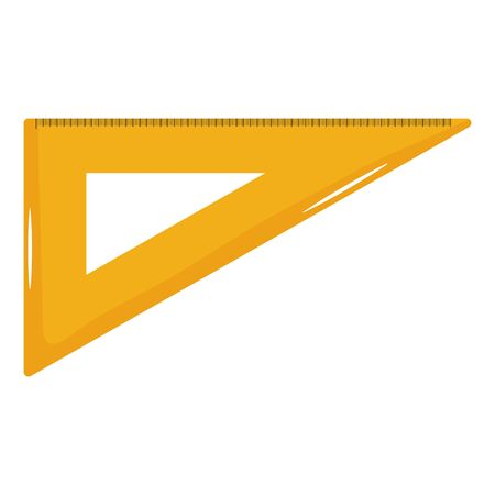 school ruler supply isolated icon