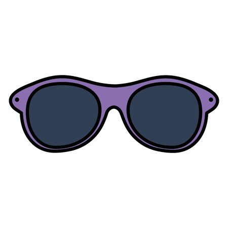summer sunglasses optical accessory vector