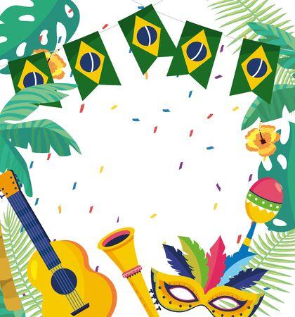 carnival celebration brazil Ilustração