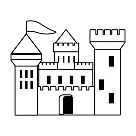 Castle design, Palace medieval tower fairytale building fantasy and fortress theme Vector illustration