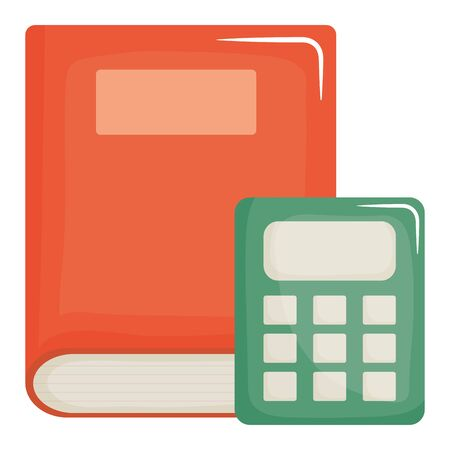 text book school with calculator math