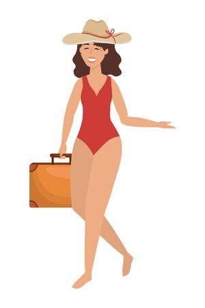 Girl with swimwear design